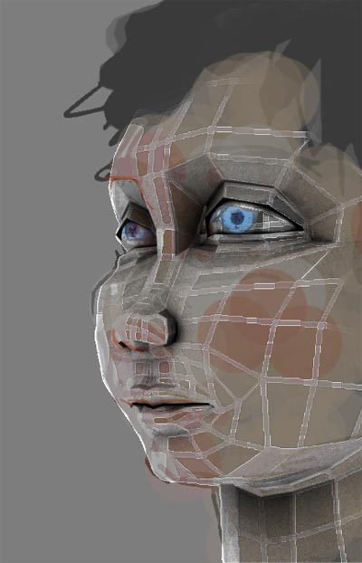 Test composition using rough max 3d head model.